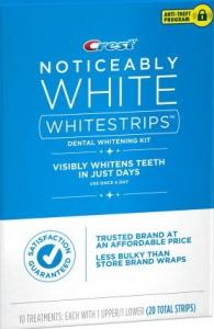 Отбеливающие полоски CREST NOTICEABLY WHITE  10 комплектов
