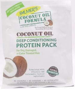 ОПОЛАСКИВАТЕЛЬ PALMERS DEEP  для волос с протеином, кокосовым маслом и витамином Е = 60г