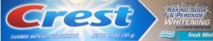 Зубная паста CREST BACKING SODA & PEROXIDE WHITENING  FRESH MINT 181г