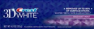 Зубная паста CREST 3D WHITE VIVID WHITENING RADIANT MINT 113г