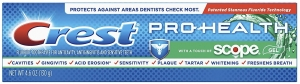 Зубная паста CREST PRO-HEALTH with a Touch ofSCOPE 130 г